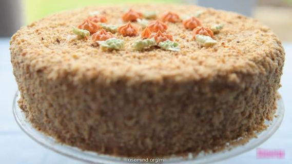 Видеорецепт–Как приготовить киевский торт