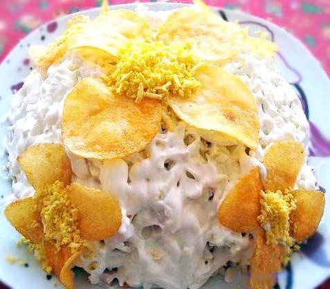 Рецепт – Салат «Орхидея»