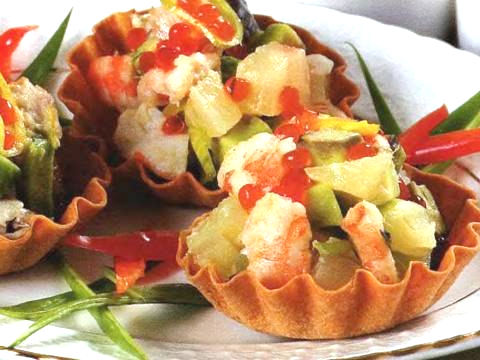 Рецепт – Рыбный салат с авокадо