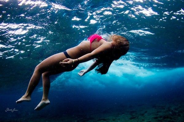 Идеи для фото – Фотосет под водой вместе с Сарой Ли [10 шт]