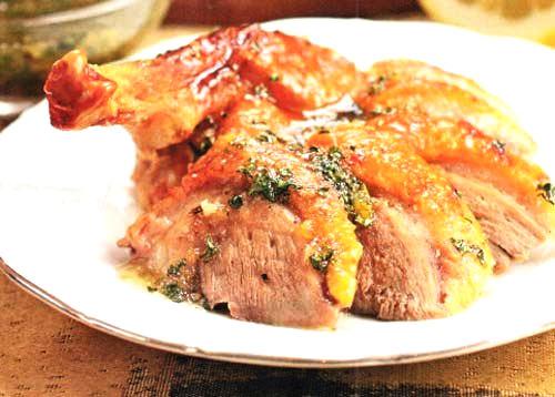 Рецепт – Утка с мятным соусом