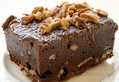 Рецепт - Брауни с грецкими орехами