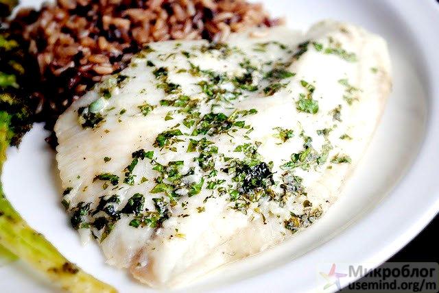 Рецепт - Лимонно-чесночное филе рыбы
