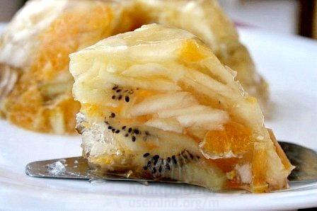 Рецепт - Фруктовый торт-желе