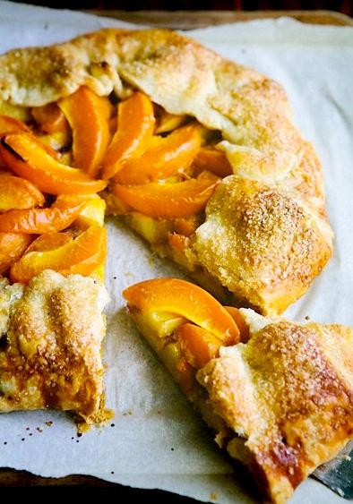 Рецепт - Галета с персиками и абрикосами