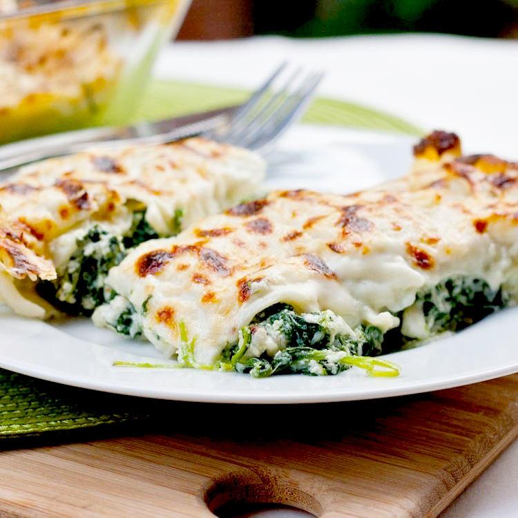 Рецепт - Каннеллони со шпинатом и рикоттой