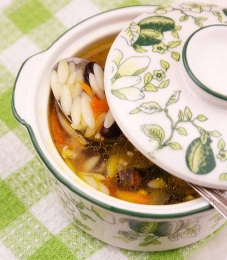 Рецепт – Фасолевый суп с беконом и орзо