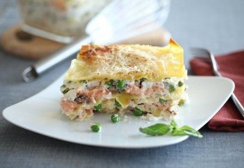 Рецепт–Лазанья с лососем