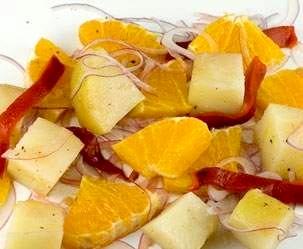 Рецепт – Салат из картофеля с апельсинами