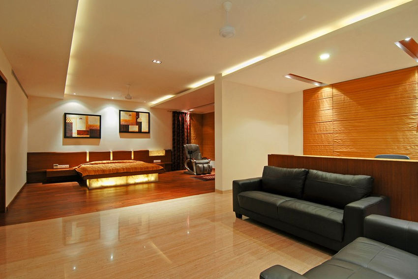 Идеи интерьера–Двухэтажные апартаменты в Индии от ZZ Architects