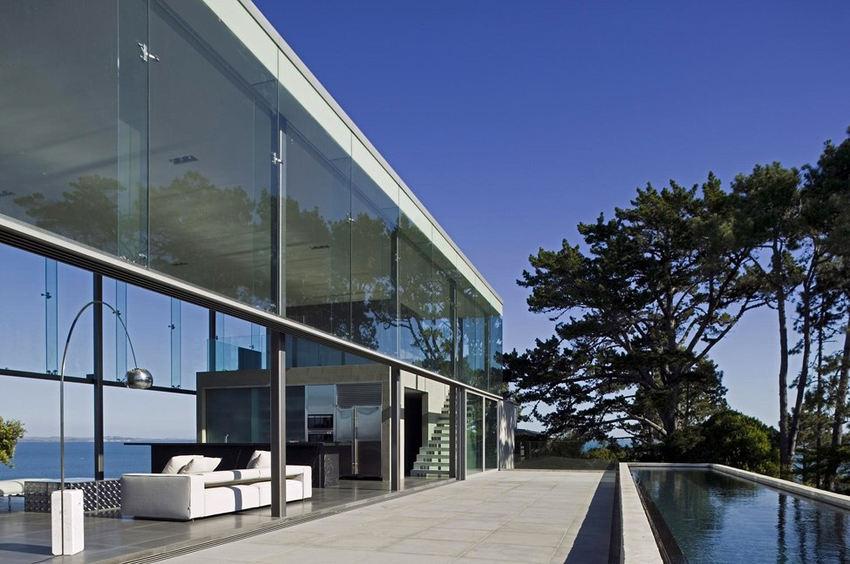 Идеи интерьера–Стеклянный особняк на вершине скалы