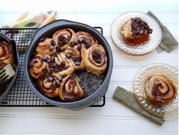 Рецепт–Шоколадные булочки с корицей. Фото