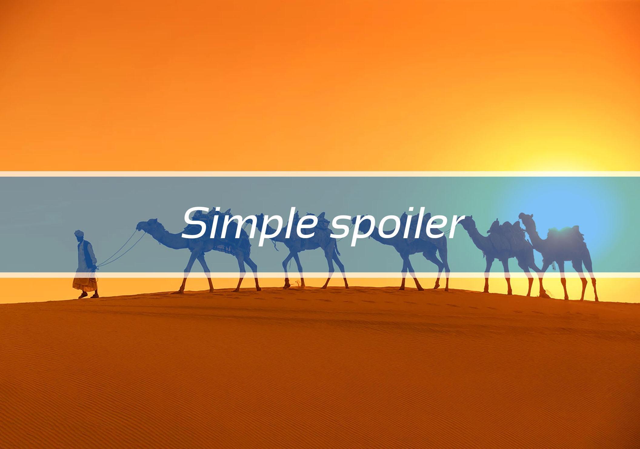 Simple spoiler
