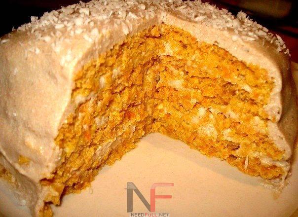 Рецепт–Йогуртовый торт с морковью и курагой