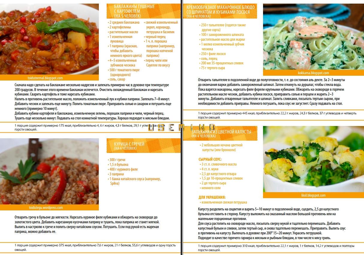 Правильное питание рецепты