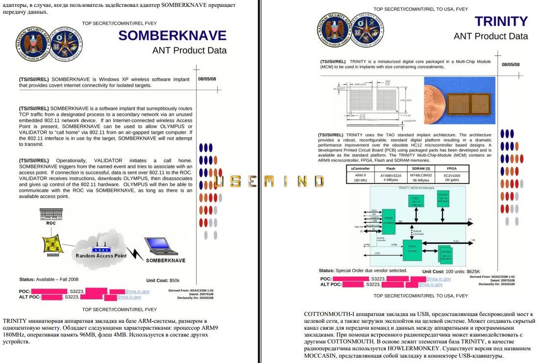 Шпионские гаджеты АНБ