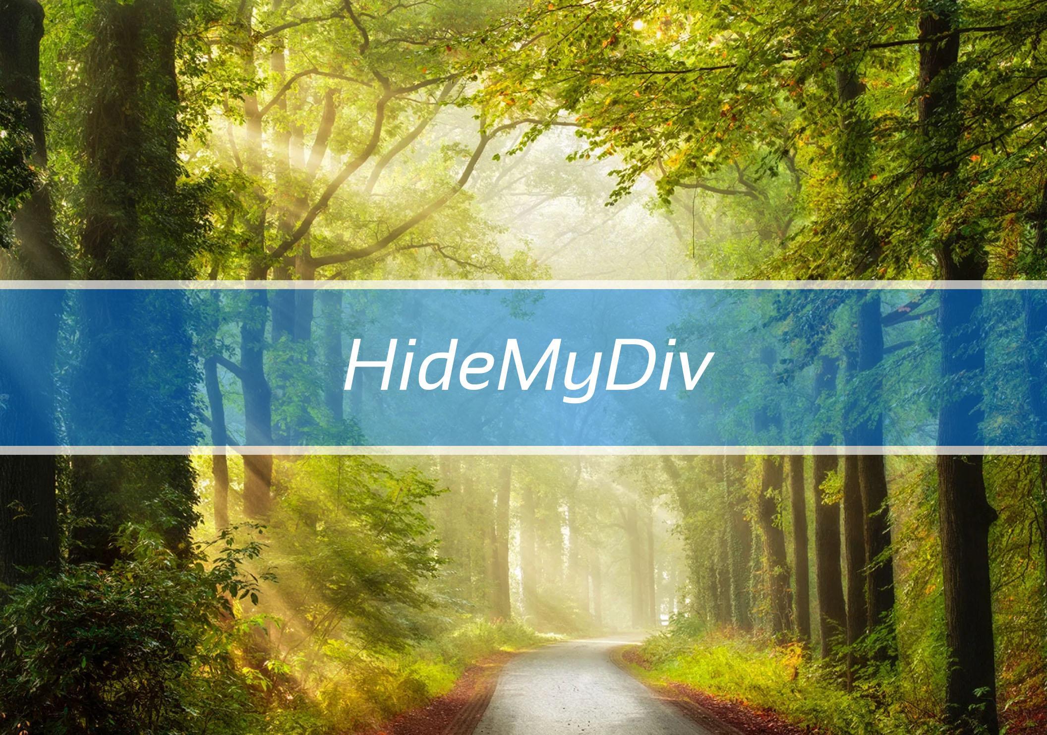 HideMyDiv