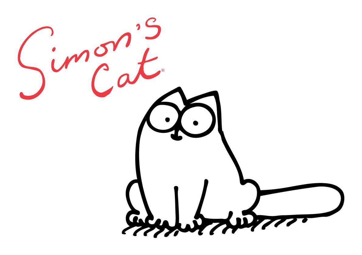 Картинки, рисунок смешного кота саймона